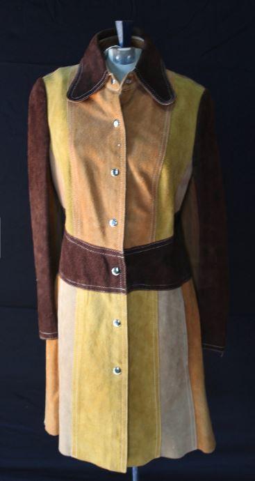 1970s La Scala Patchwork Color-Block Suede Leather Jacket