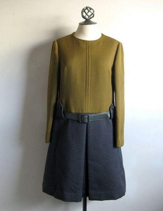 1960s 500FF Color-Block Tunic Dress