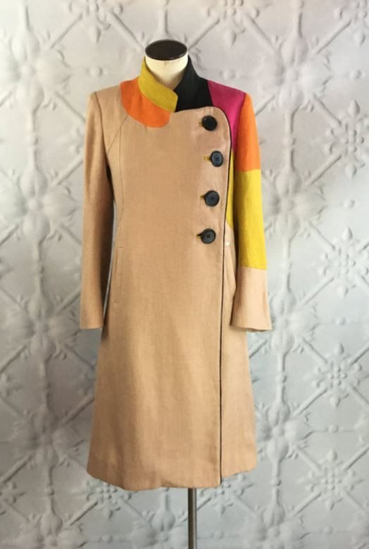 Sonia Rykiel Mod Color-Block Coat
