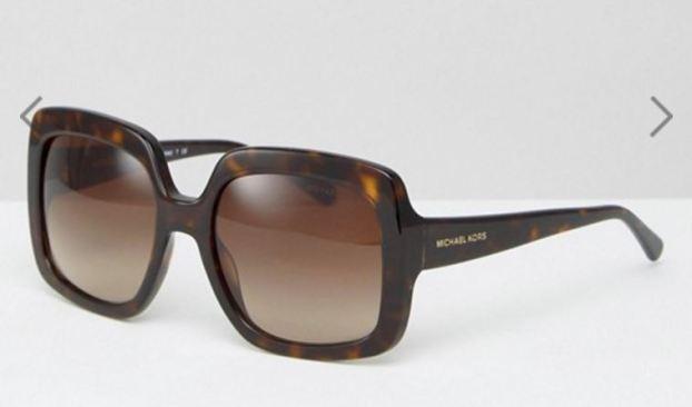 ASOS // Michael Kors Square Sunglasses in Tortoise