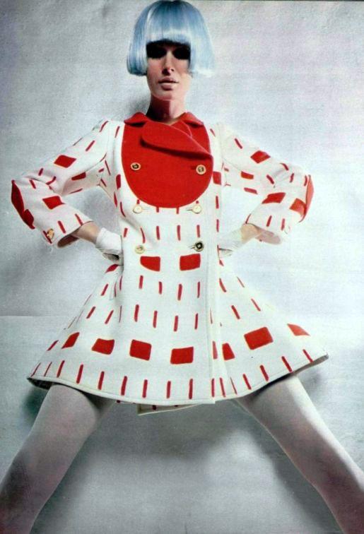Courrèges mini coat, 1960s
