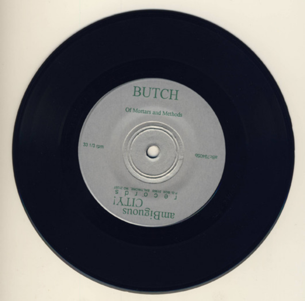 "Butch (1994) 7"" single on AmBiguous City! Records."
