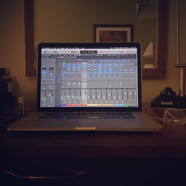 More #makingmusic in the #hotel... #electronicmusic