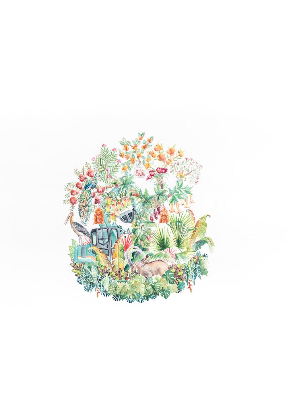 Robin-Crofut-Brittingham-Human-Artifact-5-(Excavator)-Watercolour-on-paper-2018-30-in-x-22-in.jpg