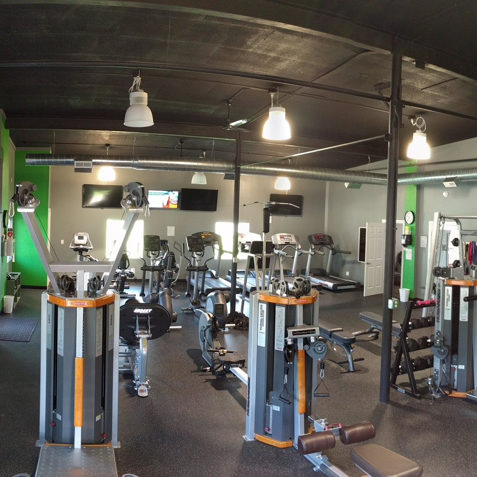 Equipment - Our gym has cardio machines (treadmills, ellipticals, bikes, rowing) and weight machines (cable weights, leg press machine, Smith machine) as well as a pull-up bar, dumbbells of various sizes, adjustable benches, jump rope, a kettlebell and mats.