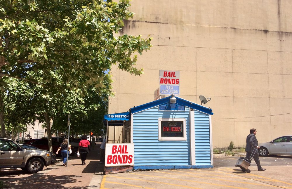 A Bail Bonds Agency  close to Harris County DA's Office in Houston  Photo: Ruxandra Guidi.