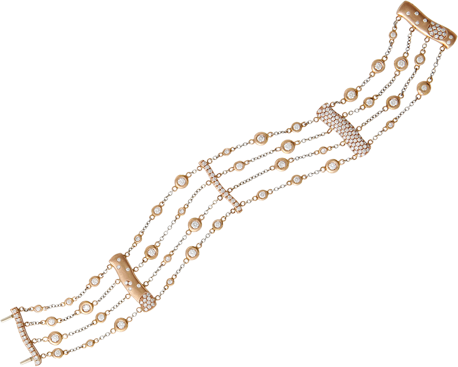 FRIDA | Fine Jewellery. Strata™ Collection. Custom designed 18kt pink gold chain bracelet set with diamonds.png