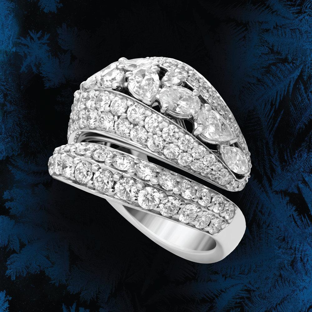 FRIDA | Fine Jewellery. Statement diamond wrap ring.