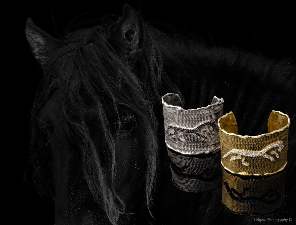 FRIDA   Spirit Cuffs. Horse Inspiration.