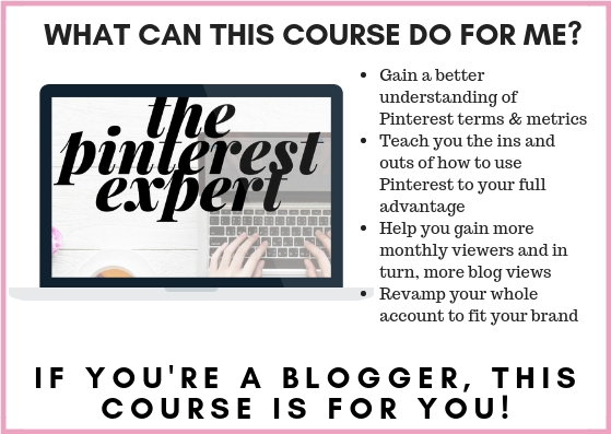 the pinterest expert e course is for bloggers who want to learn to use pinterest effectively