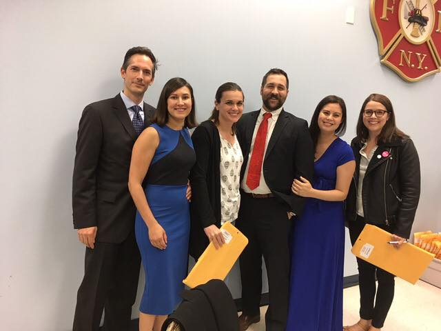 Scott alongside other young Putnam County Democrats. From left to right, Gabriel Montanaro, Melinda Caro Montanaro,  Katherine O'Sullivan, Scott Reing, Kei Reing, and Jordan Bailey-Hoover.