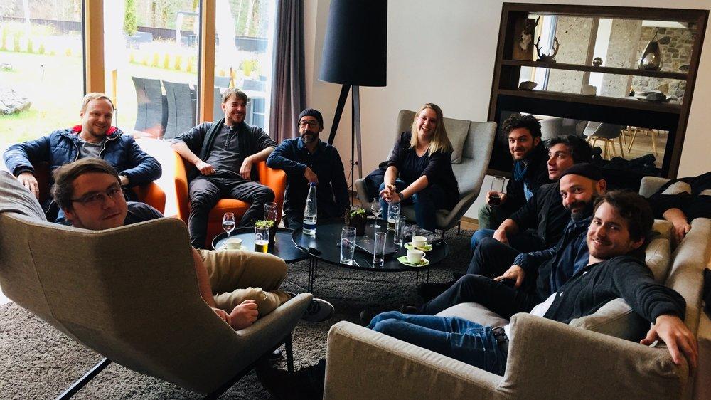 Kontrollierte, gesittete Runde, Teamtage in Garmisch, November 2017