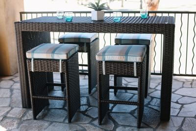 Bar stools and bar tables