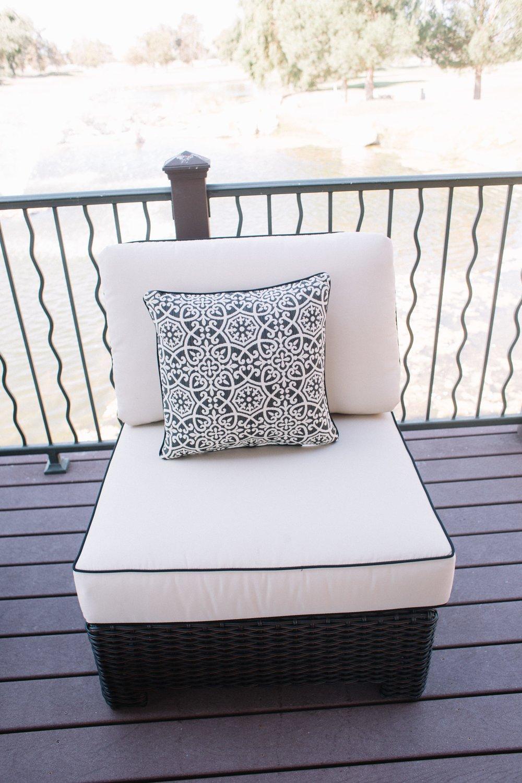 St. Martha Modular Armless Club Chair