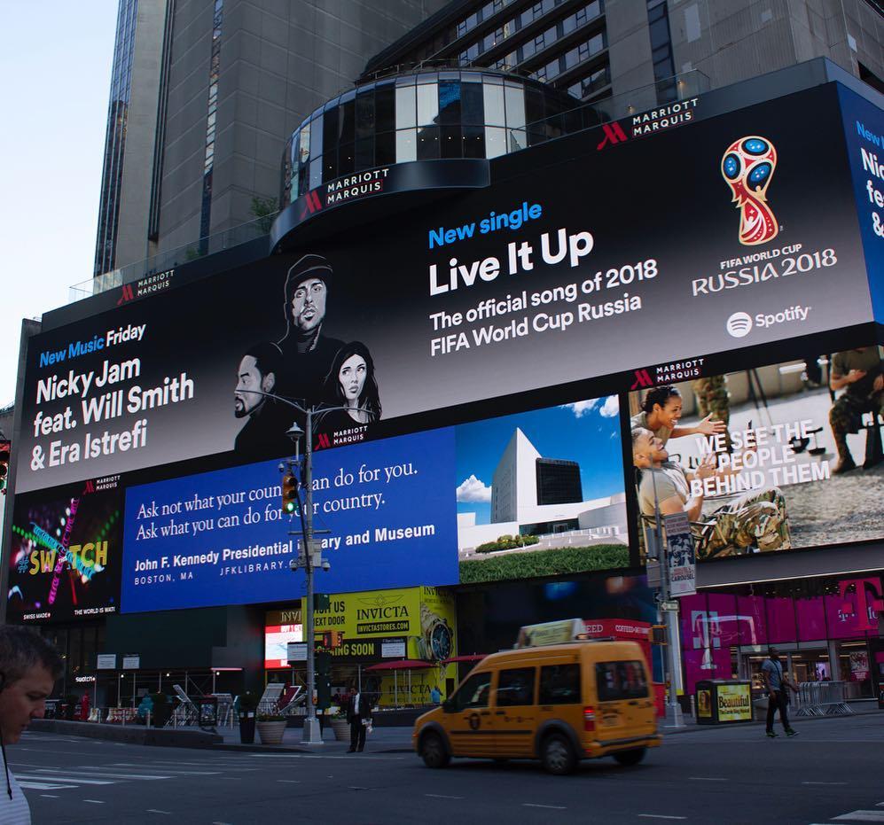 Spotify Billboard on Times Square