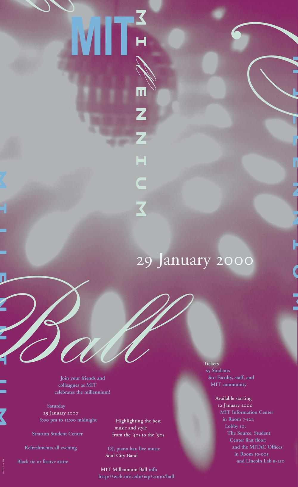 MIT Millennium Ball poster