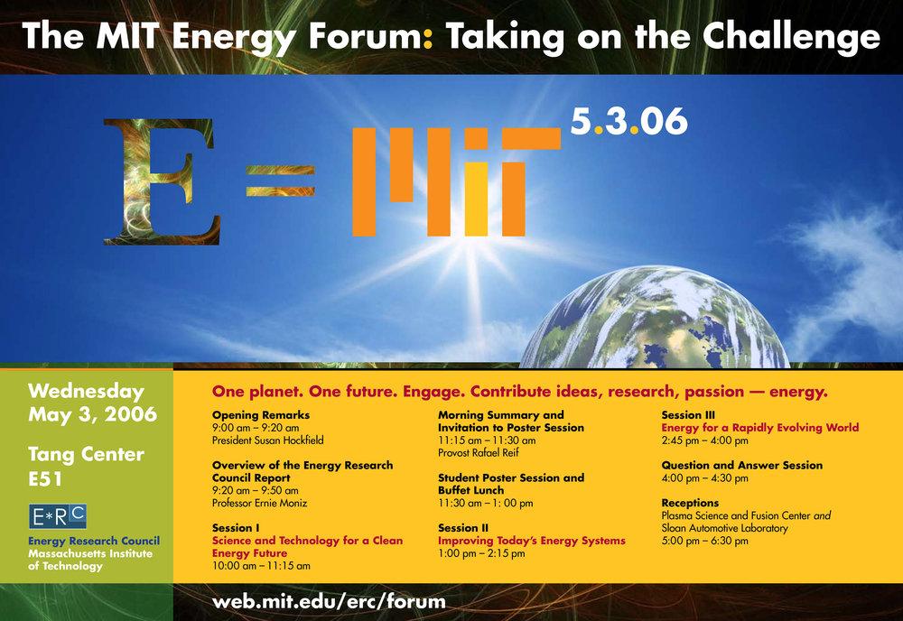 MIT Energy Forum poster