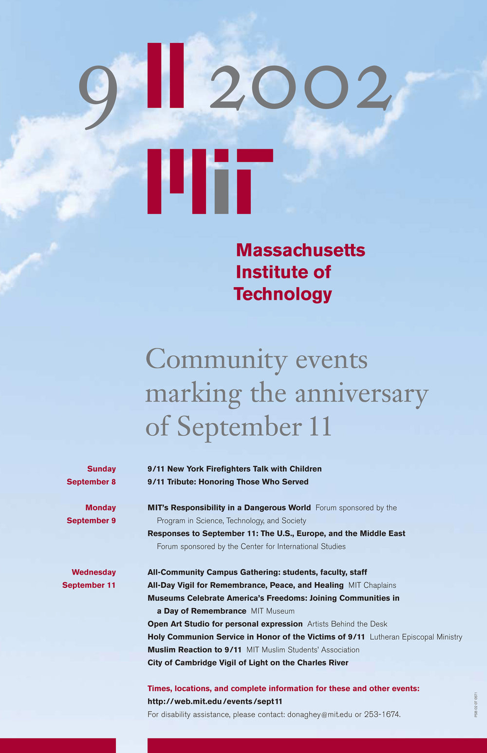 Community events marking the anniversary of 9/11