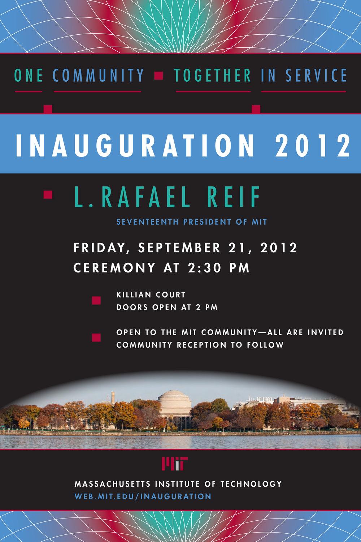 MIT President L. Rafael Reif inauguration