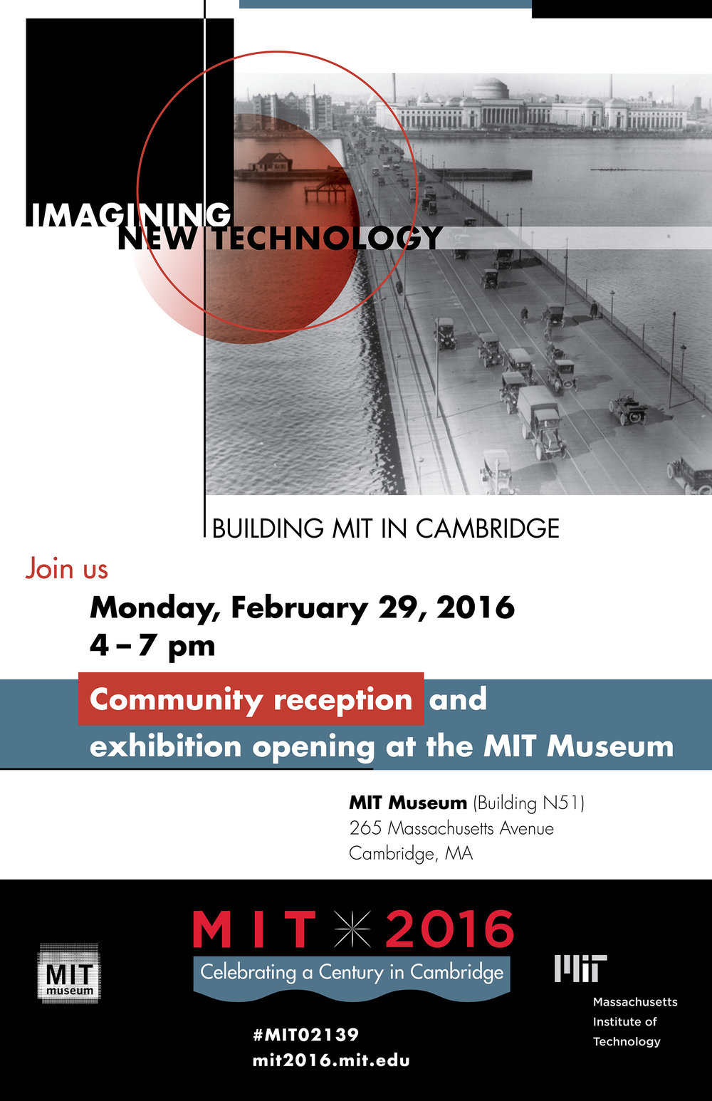MIT 2016 exhibit reception poster