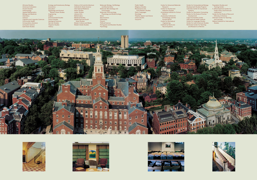 Brown University viewbook endpapers