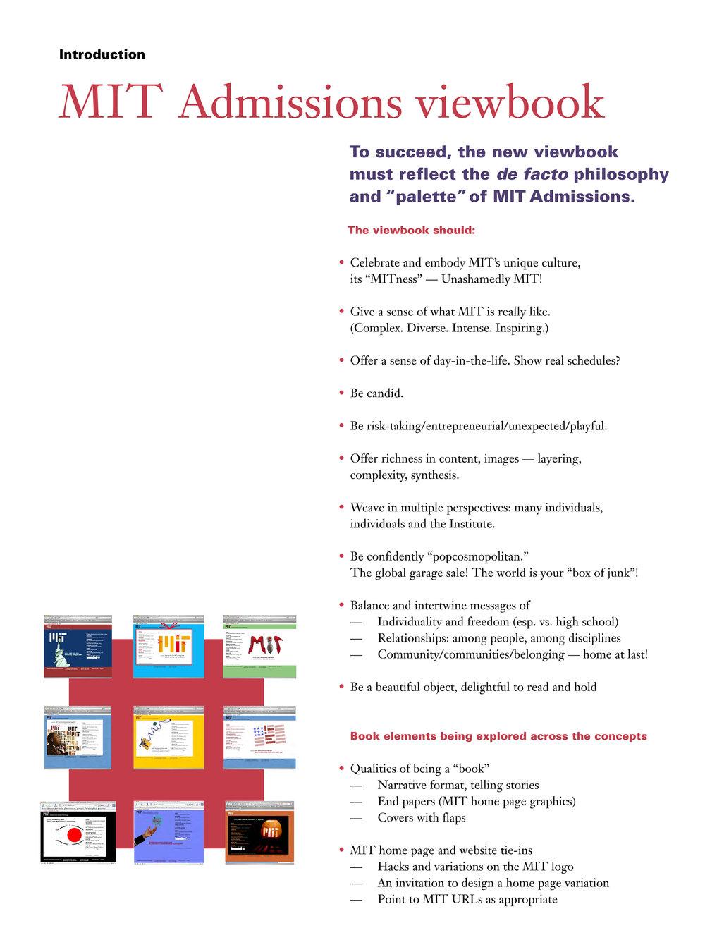 MIT Viewbook concept presentation