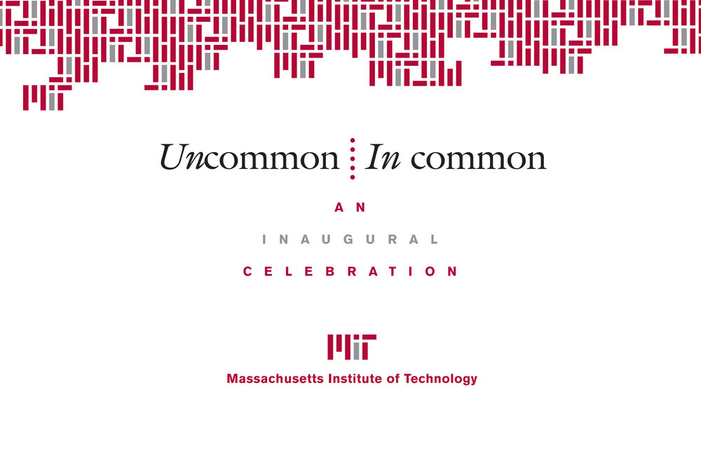 Invitation cover for MIT President Hockfield's inauguration