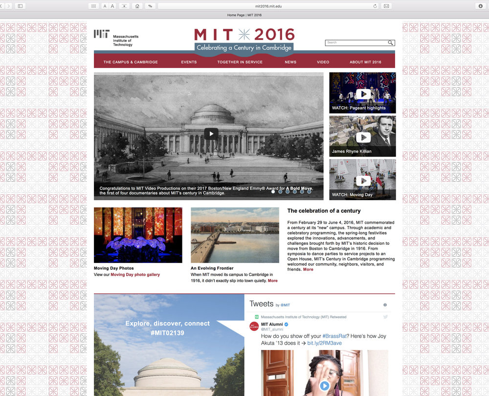 MIT 2016 website