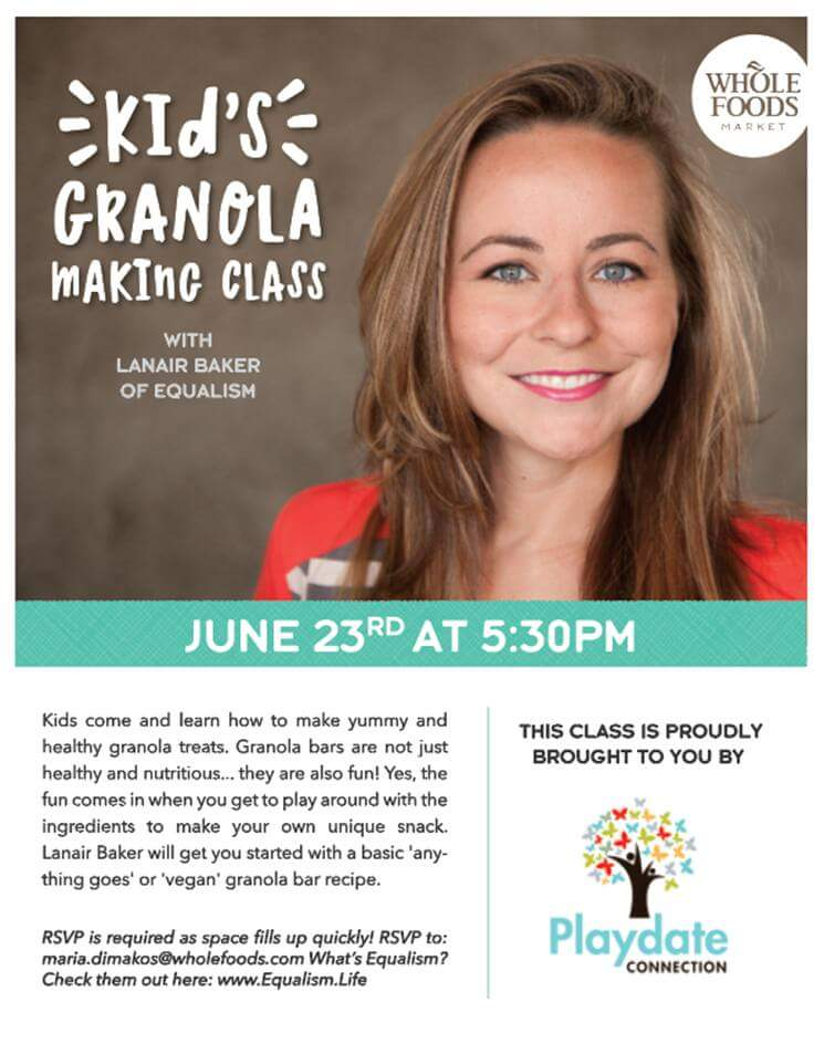 Healthy Kids Cooking Class - Wholefoods - Playdate Connection 2016 Poster.jpg