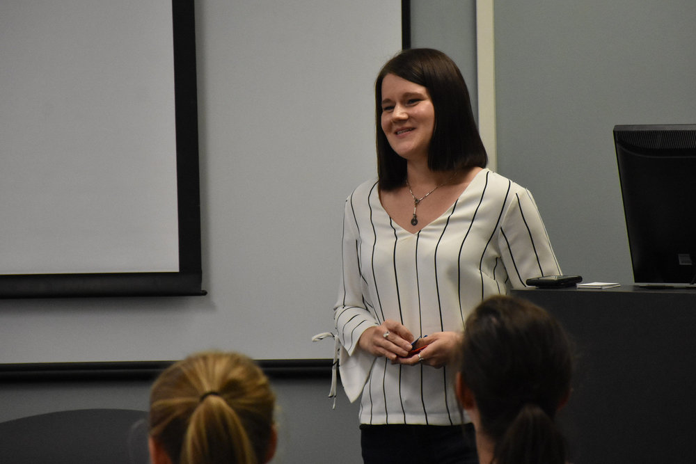 Guest Speaker   Brittani Haun , Recruiting Mgr, Univ. Relations (SE)   Marriott International   September 10/11, 2018 ( Pictures )