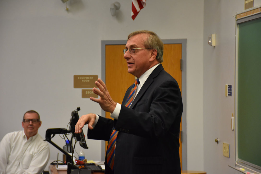 Guest Speaker   W. Kent Fuchs , President   University of Florida     October 30, 2018 ( Pictures )