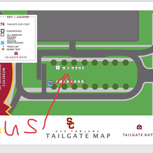 Here is a map to Sober SAFE Tailgate. ND vs USC. We got Mexican Food and TV Package right next to the Coliseum!!!