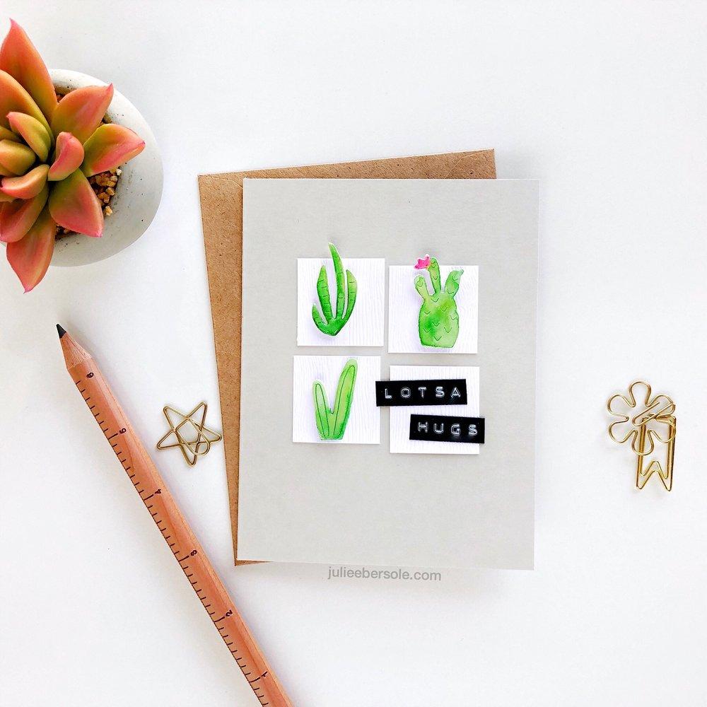 Feauturing  Mini Cactus Trio Die