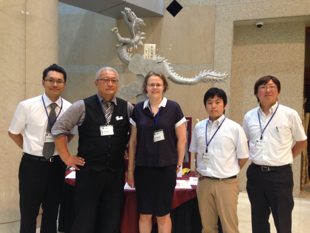 Here at the 26th International Conference on Organometallic Chemistry, Sapporo, Japan with Uozumi group. From left to right: Takao Osako, Yasuhiro Uozumi, Moores, Go Hamasaka, Yoichi M. A. Yamada.