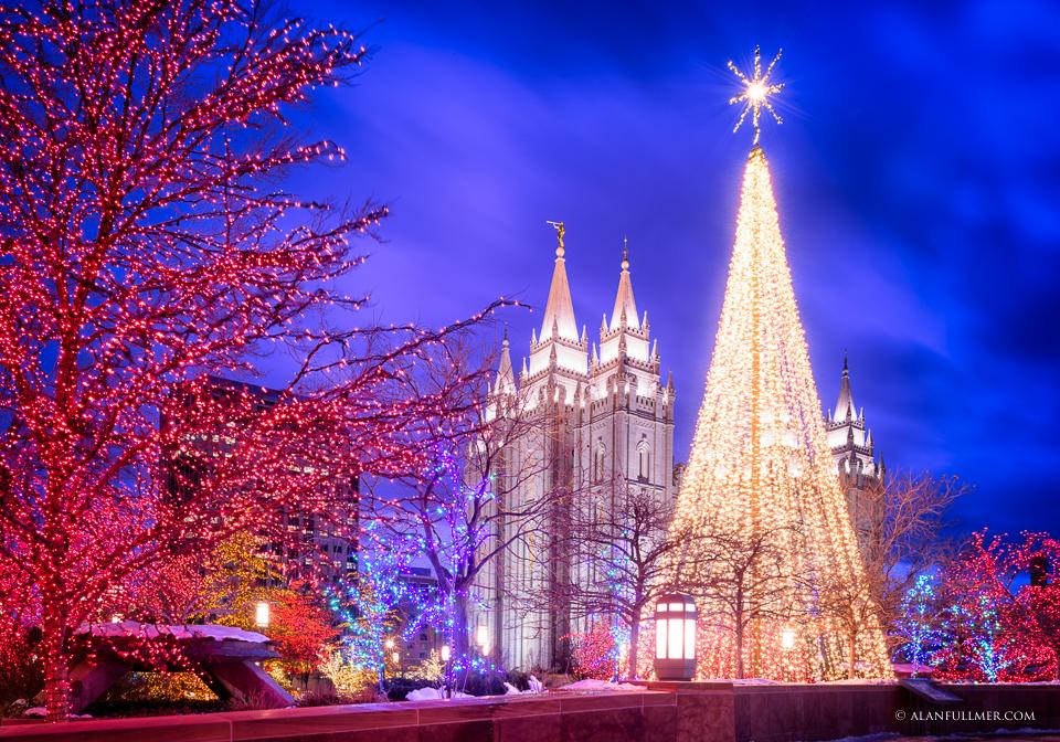 Temple Square Christmas Tree Lights
