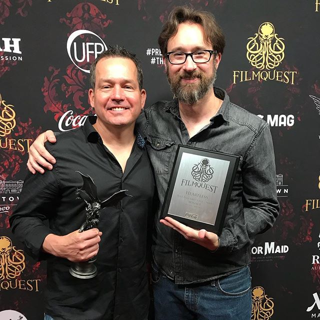 Beyond thrilled our film received Best Screenplay and Best Ensemble Cast awards at @filmquest!  #filmquest2018 #HeartlessMovie #cthulhu