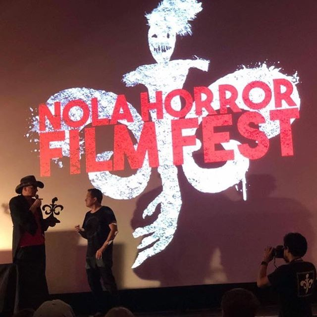 Had a bon temp in this lovely city! Thank you so much @nolahorrorff for the Best Make Up Effects award!! #neworleans #horror #filmfestival Can't wait for 2019🎥🎉