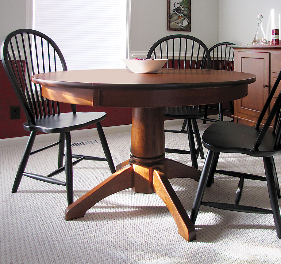 Penns Creek Pedestal Table + Chairs