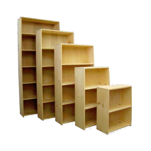Bookcases  - Evergreen - 9.25_ Deep Pine Bookcases - Unfinished.jpg