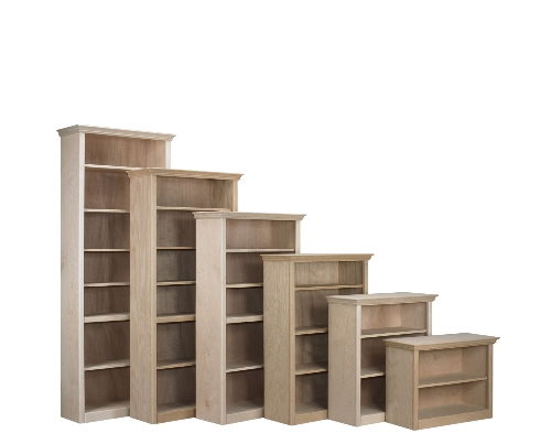 Bookcase - Berkshire - 16%22 Deep Classic Bookcase - Unfinished .jpg