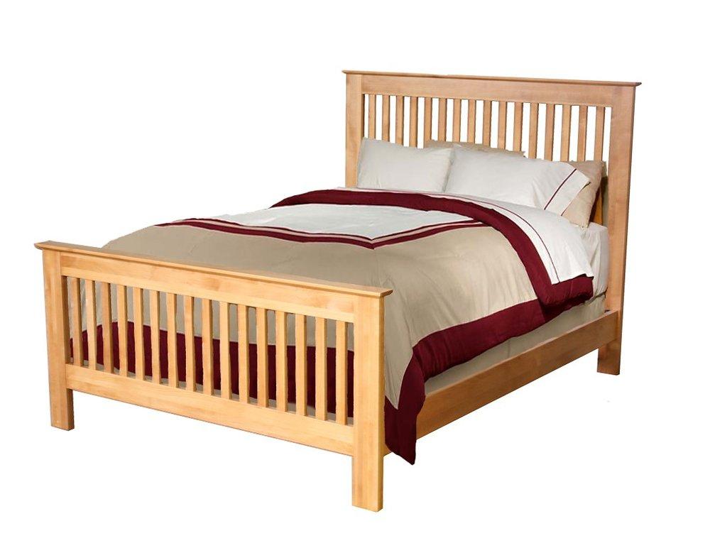 Alder Beds - Archbold - Shaker slat bed - Finished.jpg