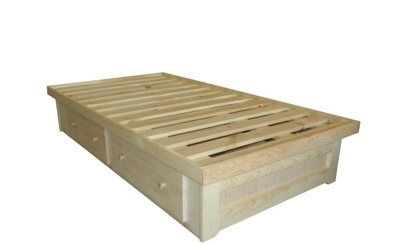 Bed - Berkshire - 2 Drawer Low Storage Bed - Unfinished.jpg