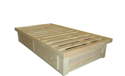 Bed - Berkshire - 4 Drawer Low Storage Bed - Unfinished - .jpg