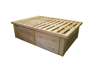 Bed - Berkshire - 4 Drawer Tall Storage Bed - Unfinished.jpg