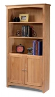 Bookcase with Doors - Archbold - bookcase hutch with 2 doors - Finished.jpg