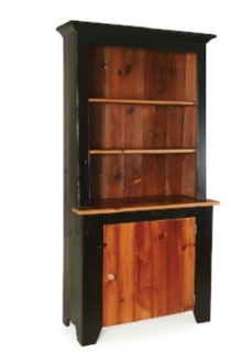 bookcases with doors - penns creek - reclaimed barnwood slant-back open hutch - finished.jpg