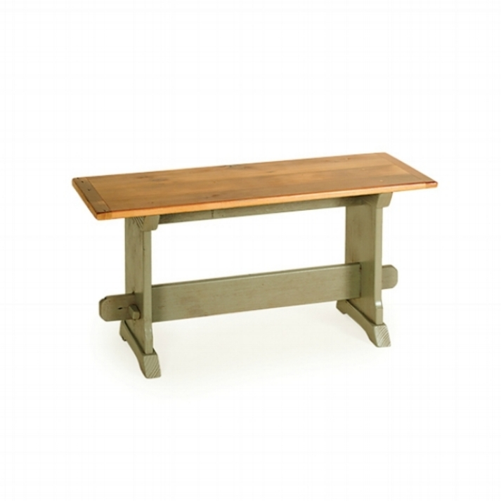 Penns Creek Reclaimed Barnwood Trestle Bench    Starting at: $394.99