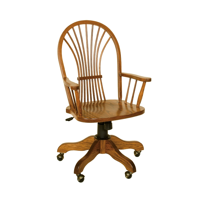 Penns Creek Shaker Wheat-Back Arm Desk Chair    Starting at: $