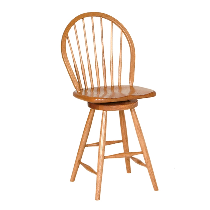 Penns Creek Shaker Windsor Stool With Swivel    Starting at: $