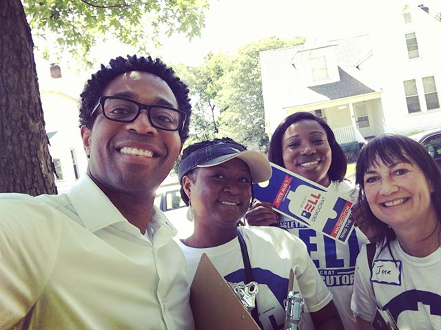 Your friendly neighborhood future STL County Prosecutor and a few of his enthusiastic volunteers covered some major ground this weekend while canvassing in Maplewood! Want to join in on the fun? Visit: votewesleybell.com #RingtheBell